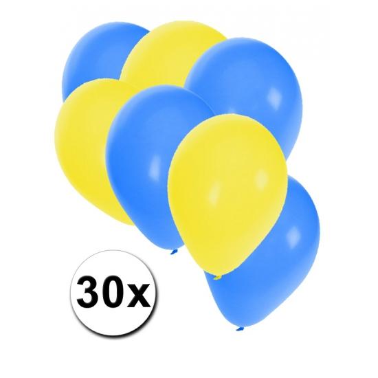 30 stuks ballonnen kleuren Oekraine