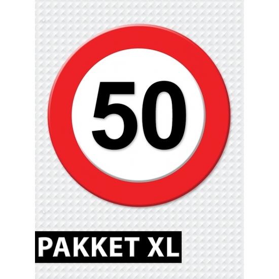 50 jaar verkeersbord versiering XL pakket