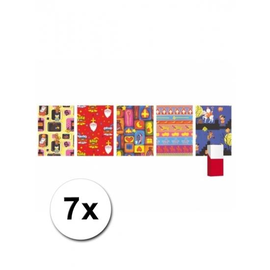 7 rollen kadopapier van Sinterklaas thumbnail