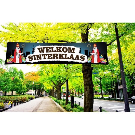 Buiten spandoek van Sinterklaas thumbnail