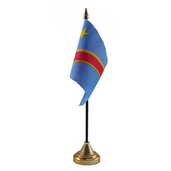 Congo vlag met standaard