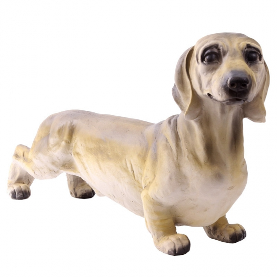 Dierenbeeld teckel hond 32 cm