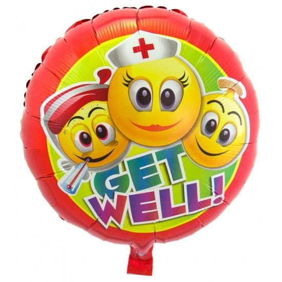 Emoticons beterschap folieballon 45 cm