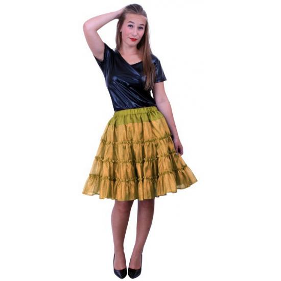 Gouden verkleed petticoat 5-laags