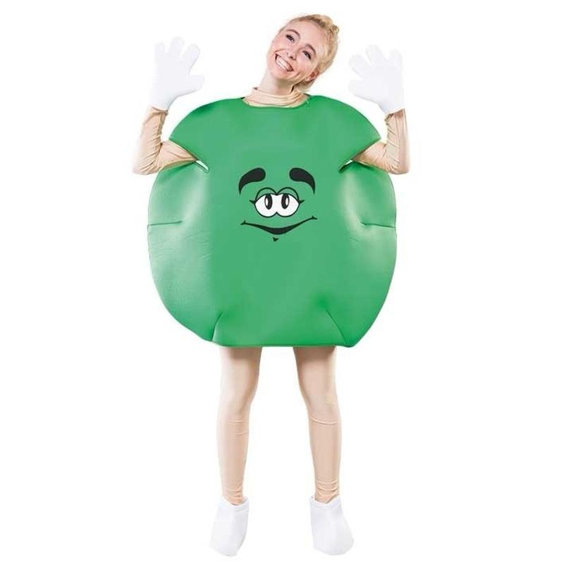 Groen snoepje verkleedkleding