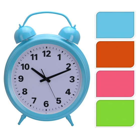 Groene klok in de vorm van een wekker