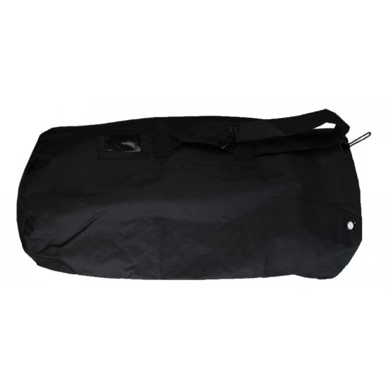 Grote plunjezak zwart van nylon 90 cm