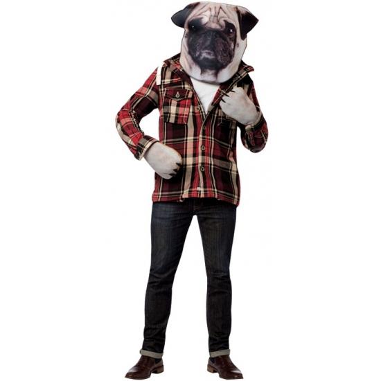 Honden verkleedset met masker en handschoenen