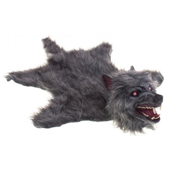 Horror weerwolf kleed met lichtgevende ogen en geluid