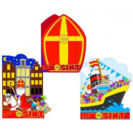 Kleur- en spelletjesboek Sinterklaas huizen thumbnail