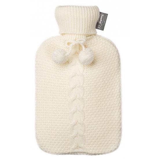 Kruik 2 liter met witte gebreide hoes