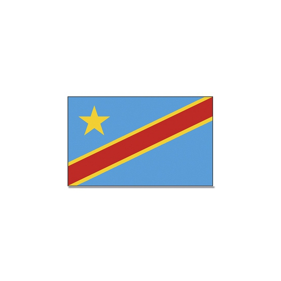Landen vlag Congo 90 x 150 cm