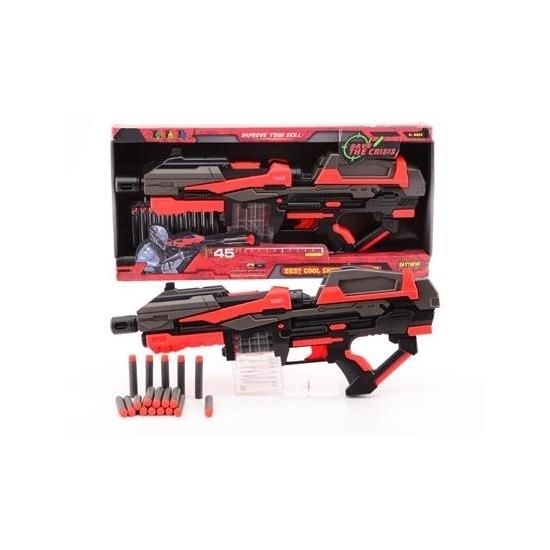 Large rood speelgoed pistool 54 cm