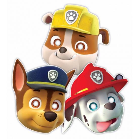 Papier Paw Patrol feest maskers 8 stuks thumbnail