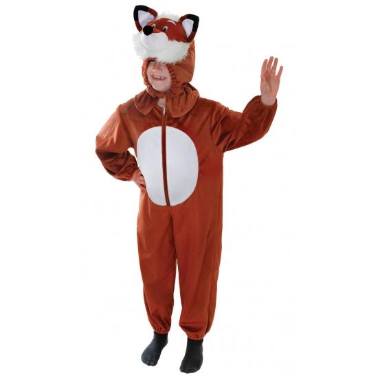 Pluche vossen outfit voor kids