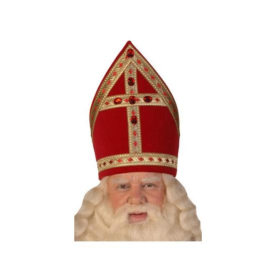 Professionele Sinterklaas mijter voor volwassenen thumbnail