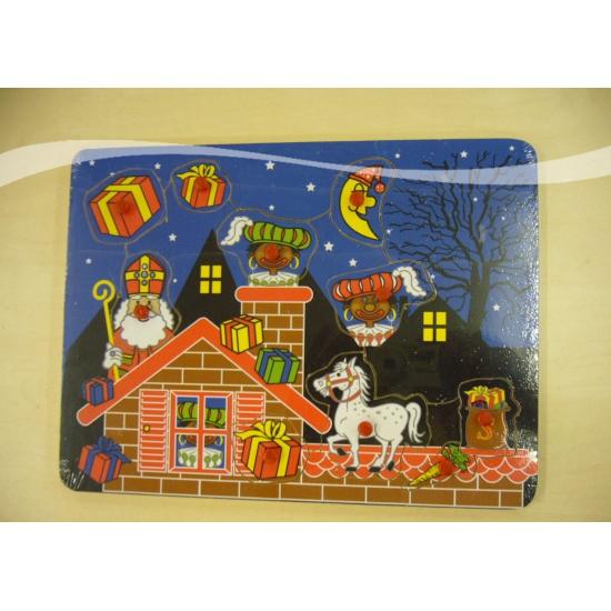 Puzzel Sinterklaas en Zwarte Piet thumbnail
