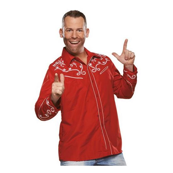 Rood Oktoberfest overhemd voor heren