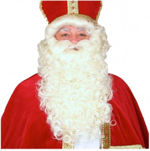 Sinterklaas baardstel met snor thumbnail