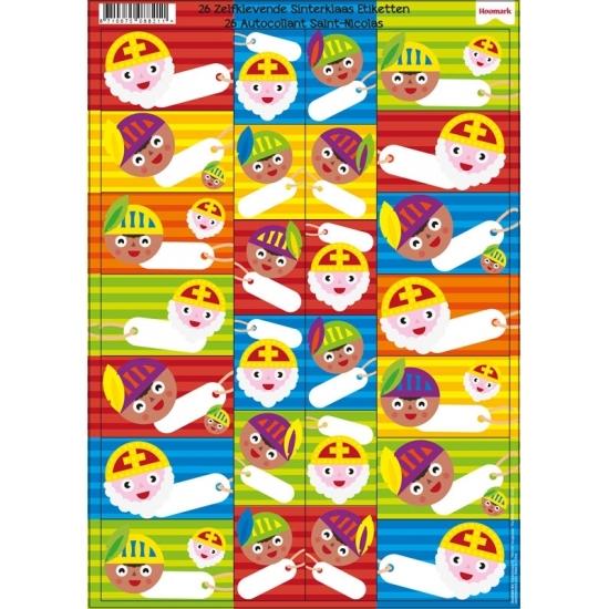 Sinterklaas kado stickers 26 stuks thumbnail