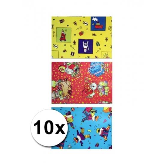 Sinterklaas metaal folie cadeaupapier 10 rol thumbnail