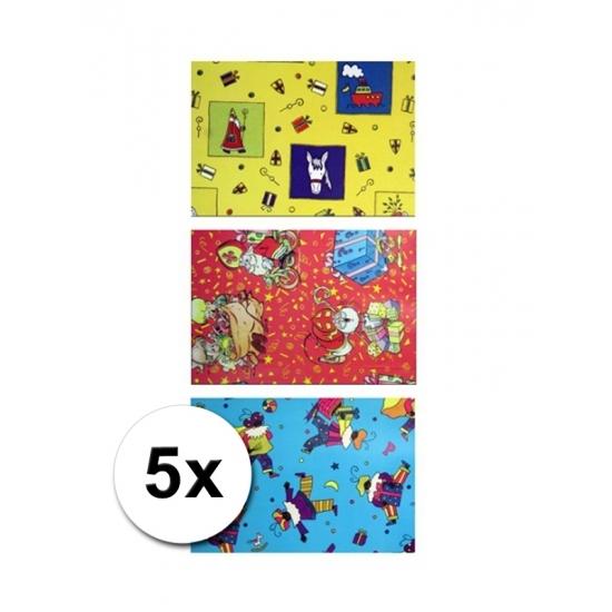 Sinterklaas metaal folie cadeaupapier 5 rol thumbnail