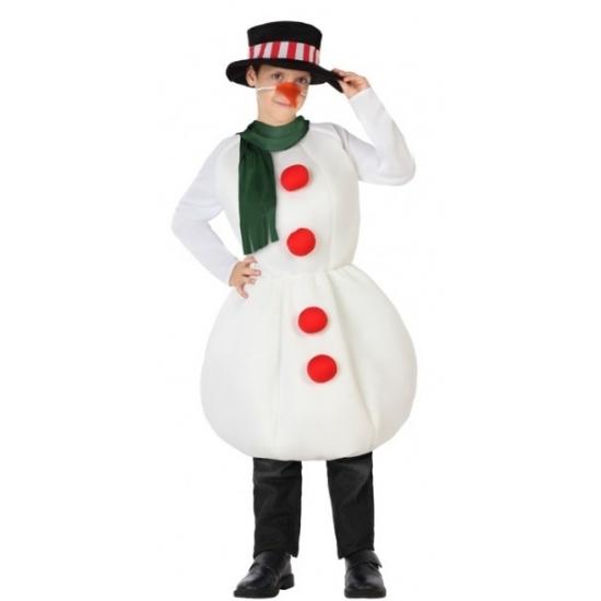 Sneeuwpop feestkleding voor kinderen