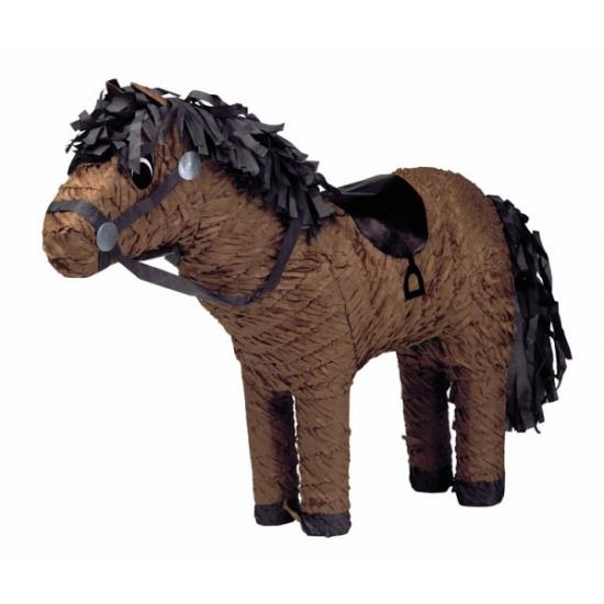Speelgoed pinata paardje bruin 53 cm