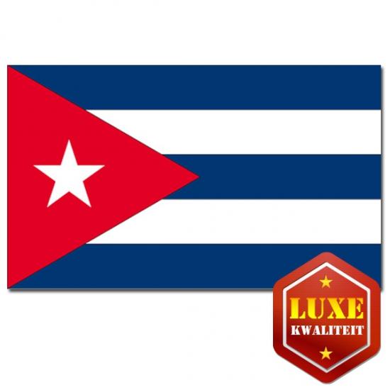 Vlag Cuba zware kwaliteit (bron: Oranje-artikelen-winkel)