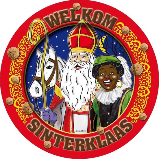 Welkom Sinterklaas wegwerp bordjes 8 stuks thumbnail
