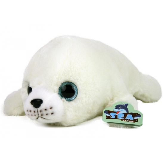 Witte grote zeehonden knuffels 75 cm