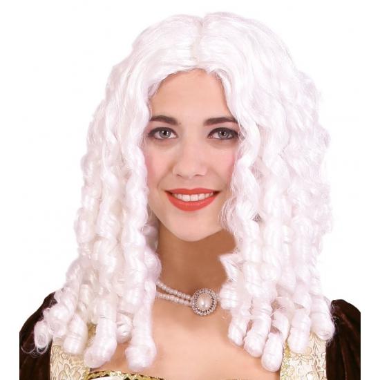 Witte rococo pruik voor vrouwen