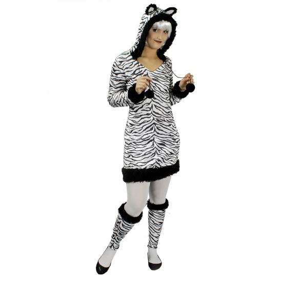 Zebra pakje voor vrouwen met beenwarmers