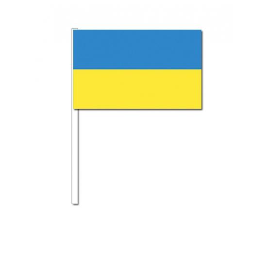 Zwaaivlaggetjes Oekraine vlag