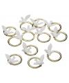 Bruiloft tafeldecoratie ringen met duif