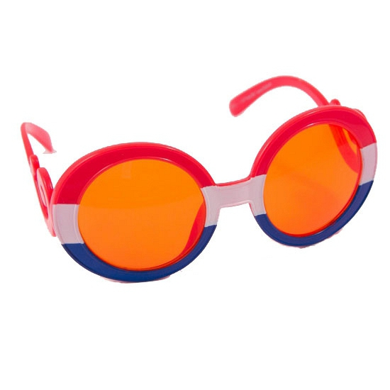 afea592f971ed8 Oranje bril met gekrulde pootjes - Oranje artikelen winkel