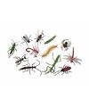 12x Speelgoed horror insecten plastic-rubber dieren