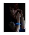 2x Feest-party blauwe armbanden met LED lampjes voor dames-heren-volwassenen