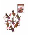2x Zwarte Piet mobiel slinger