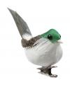 3 decoratie vogeltjes groen
