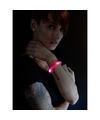 3x Feest-party rode armbanden met LED lampjes voor dames-heren-volwassenen