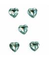 40x Doorzichtige steentjes in hartvorm