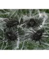 4x Plastic nep spinnen 10 cm Halloween decoratie