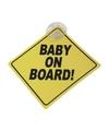Baby on board veiligheidsbord met zuignap 12 cm