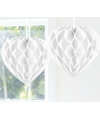 Bruiloft versiering decoratie hart wit