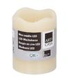 Creme LED kaarsen-stompkaarsen 9 cm