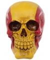 Decoratie schedel rood-geel