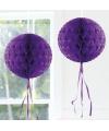 Decoratiebollen paars 30 cm