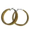 Gouden ronde oorbellen met glitters