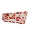 Rock en Roll thema wandbord 33x60 cm